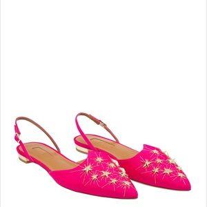 New Aquazzura Nairobi Ballet Flats - Paradise Pink